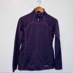 Eddie Bauer purple zip sweatshirt jacket